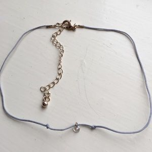 American Eagle Blue Choker with Crystal Pendant